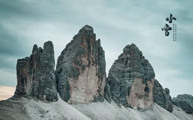 小雪时节山脉风景