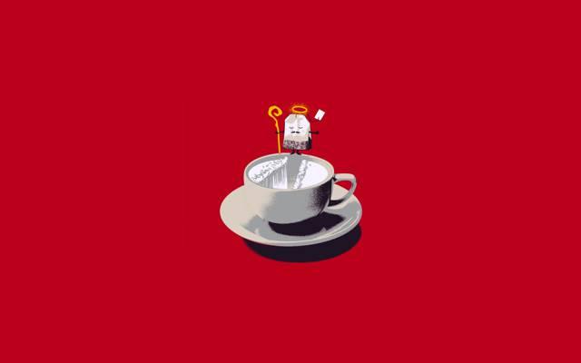 茶,杯子,袋子