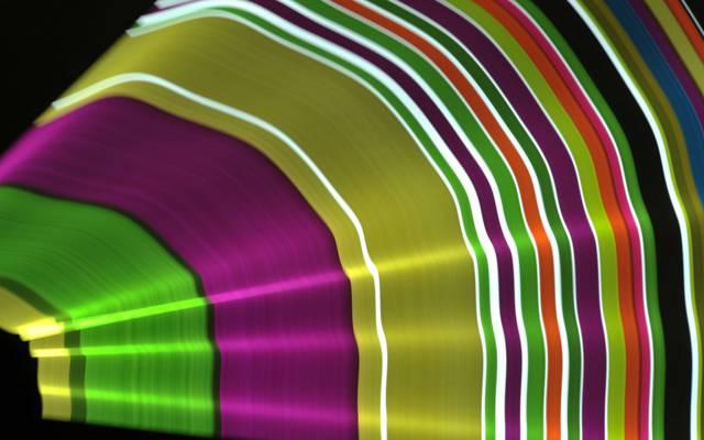 颜色,风扇,波,光线,光,线
