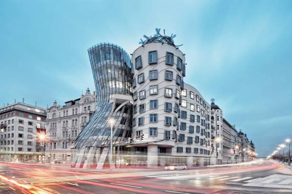 捷克共和国,城市景观,建筑,布拉格,设计,跳舞的房子
