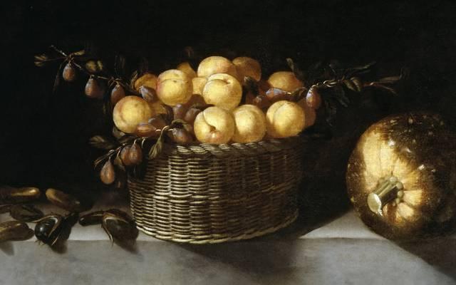 图片,胡安范德阿门和莱昂,静物与水果和蔬菜