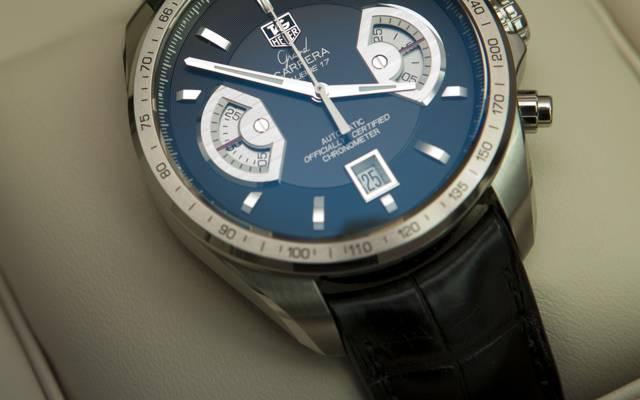 手表,箭头,豪雅大卡雷拉计时表口径17 RS