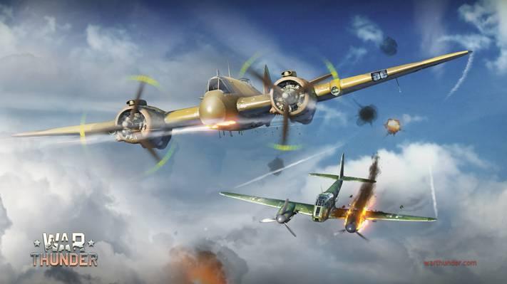 战争雷,德国,布里斯托尔,梅塞施密特,Hornisse,云,鱼雷,火焰,双引擎,重,活塞,大黄蜂,Me.410,战斗机,...