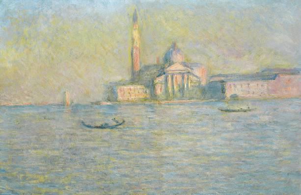 克劳德·莫奈,图片,船,教堂,贡多拉,通道,威尼斯,景观
