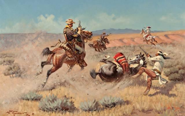 图片,战争,马,山,约翰韦德汉普顿,印度,天空,草原
