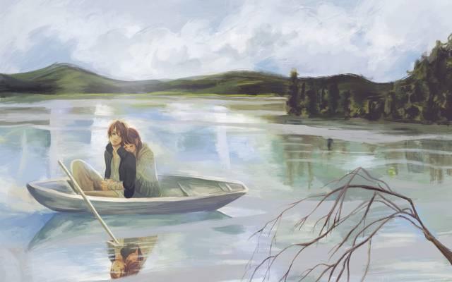 矢野motoharu,bokura ga ita,分支,船,takahashi nanami,家伙,湖,图,女孩