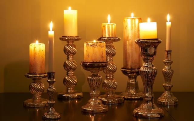蜡烛架,蜡烛,光,火