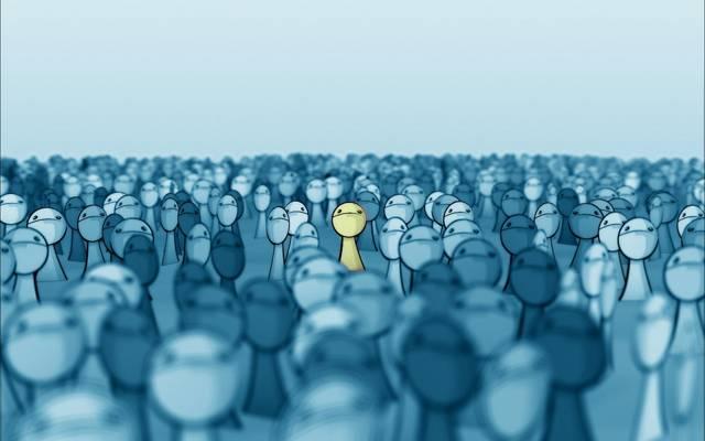 面对在人群中,smashmethod,黄色,deviantart,人群,脸,突出