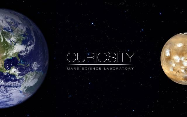 地球,火星,星星,好奇心