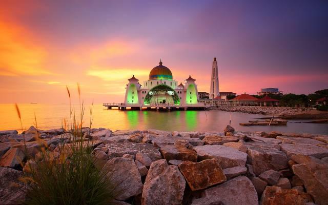 马来西亚,建筑,Masjid Selat马六甲