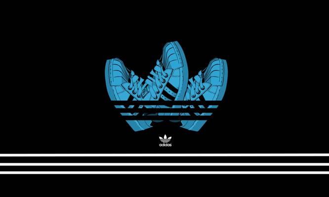 背景,极简主义者,运动鞋,阿迪达斯,阿迪达斯,黑色