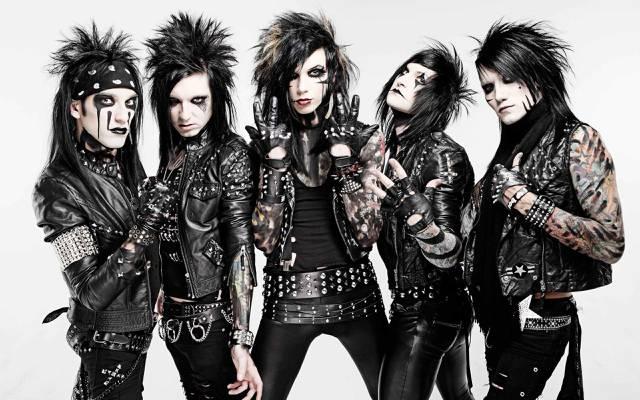 重金属,阿什利,jinxx,glam金属,andy,黑面纱新娘,坚硬的岩石,杰克