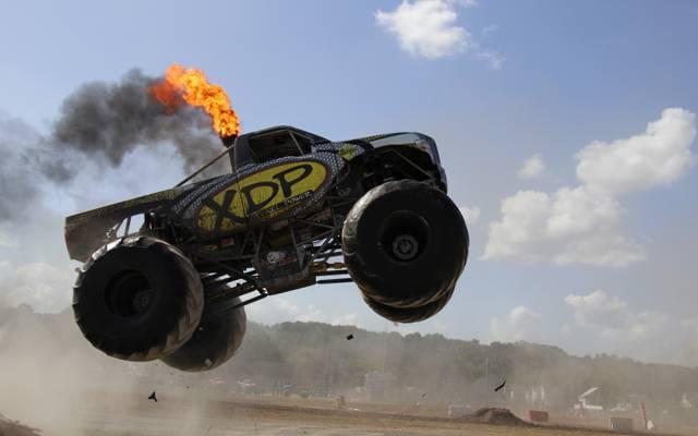 柴油,跳,怪物卡车