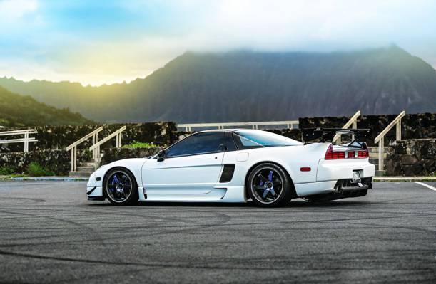 调整,本田,NSX,车,白色