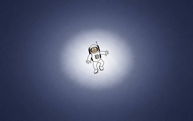 极简主义,宇航员,西装,宇航员,极简主义,微笑