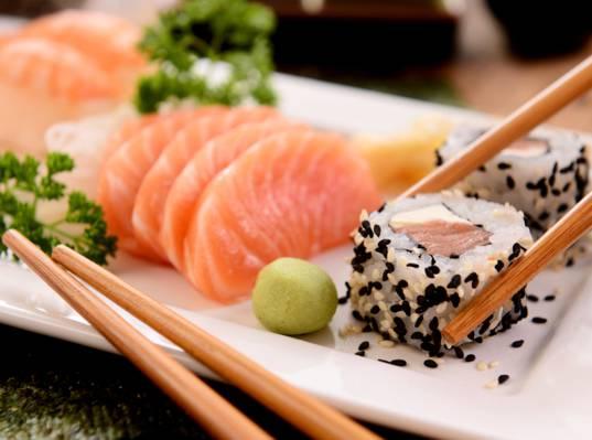 寿司,寿司,鱼,海鲜,卷,服务,鱼,芝麻,日本,卷,海鲜,棒