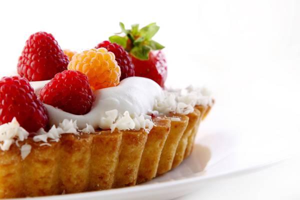 覆盆子,奶油,蛋糕,甜点,甜,草莓,板