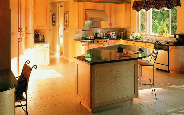 样式,内部,房子,别墅,厨房,设计
