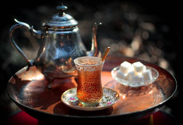 水壶,糖,茶