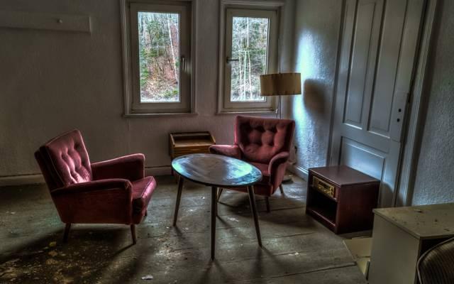 房间,椅子,窗口