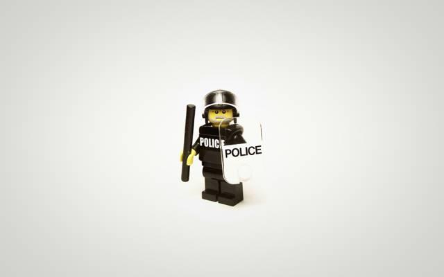 极简主义,警察,乐高