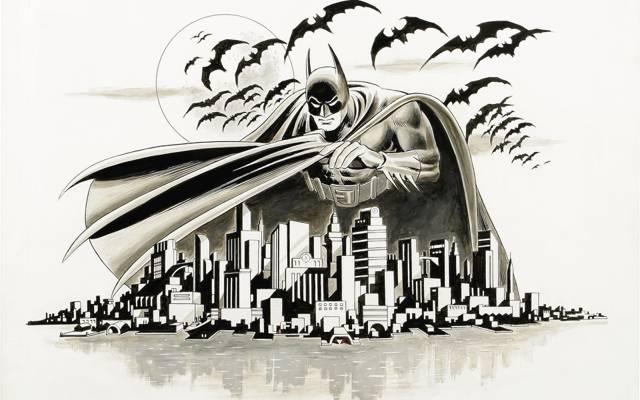 蝙蝠,城市,蝙蝠侠,阿甘,图
