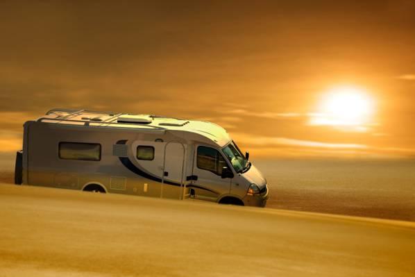 大篷车,路,一天,旅游,海,积极,太阳,感觉的速度,旅行,停留,速度,性质,...