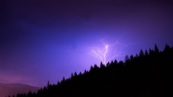 闪电照片,罗马尼亚高清壁纸