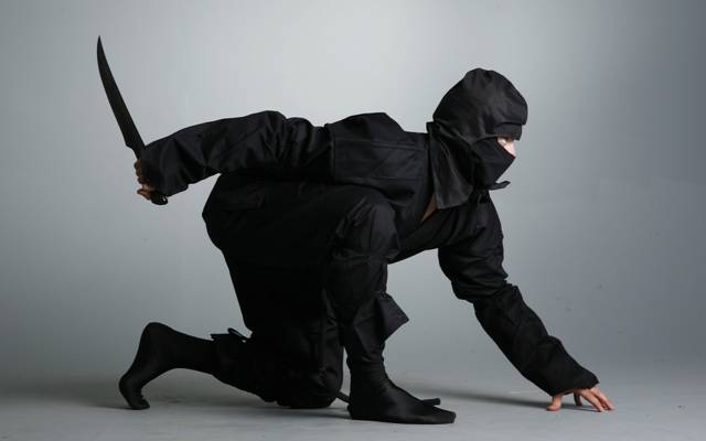 黑色西装,刀,忍者,忍者,忍者,匕首