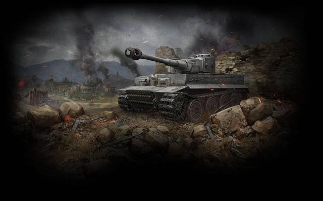 坦克世界,老虎,沃特,虎,坦克