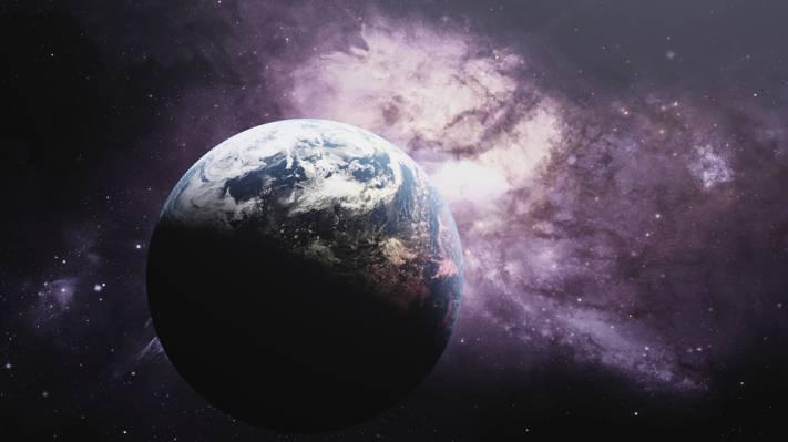 宇宙之外的地球照片高清壁纸