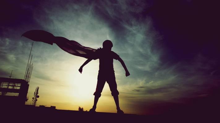 童年,迷信,超级英雄,英雄,超人,男孩,梦想,惊人