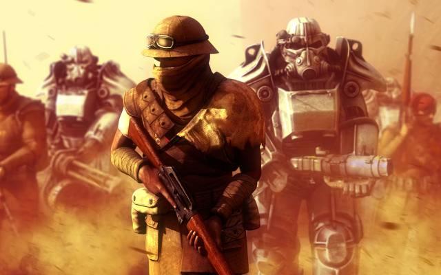 战争,钢铁兄弟会,新维加斯,士兵,后世界末日,装甲,后尘,小说