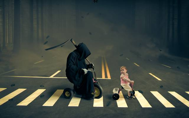 街,孩子,死亡,velosiped