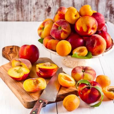 可口的油桃