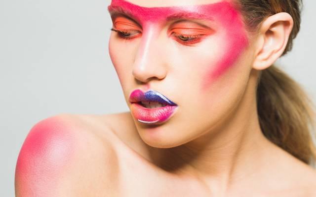 嘴唇,女孩,油漆,化妆,颜色,口红,脸,风格