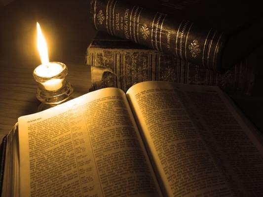 蜡烛,书,页,火