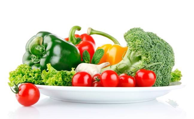 胡椒,西红柿,蔬菜,西兰花,大蒜,沙拉
