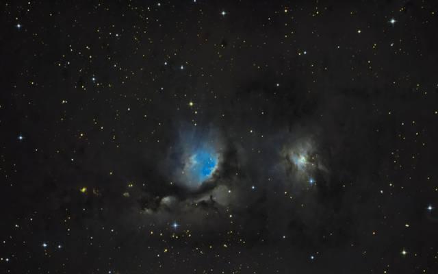 星云,梅西耶78,在星座,猎户座,反射