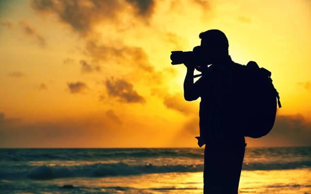 相机,解除,海,旅客,晚上,摄影师,美丽,相机,摄影师,背景,大自然,美丽的背景,...  -
