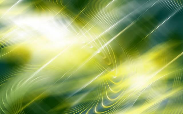光线,波浪,绿色,黄色