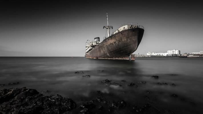 海,船,景观