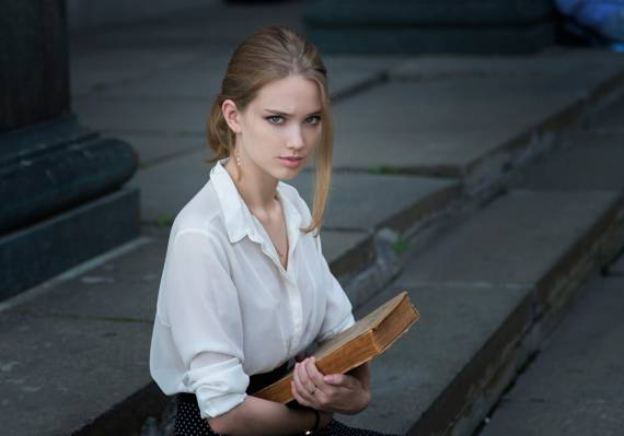 肖像,丹尼斯Drozhzhin,美丽,丽莎,书