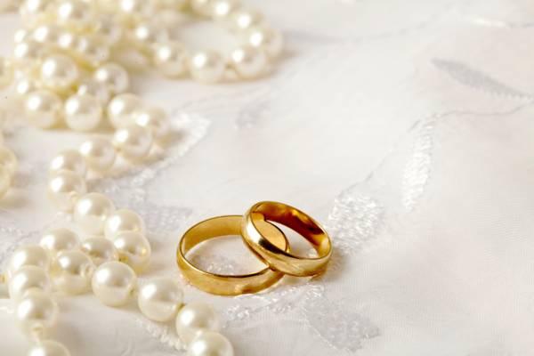 婚礼,戒指,戒指,花边,珍珠,软,婚礼,背景,珍珠