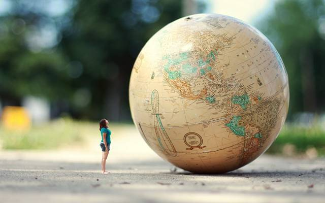 路,地球,女孩,情况