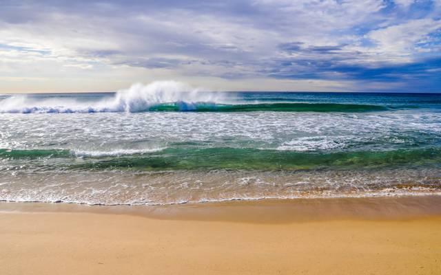 海,自然,云,天空,沙滩,风景,沙子