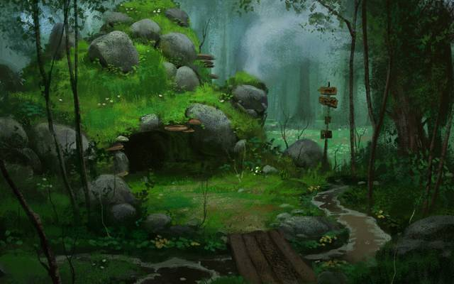 石头,桥梁,艺术,索引,河,书房,洞穴,森林