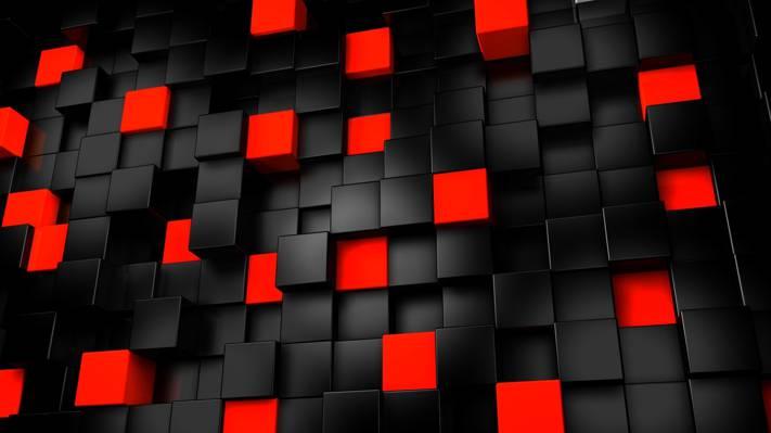多维数据集,黑暗,抽象