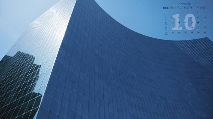 2020年10月高楼大厦日历