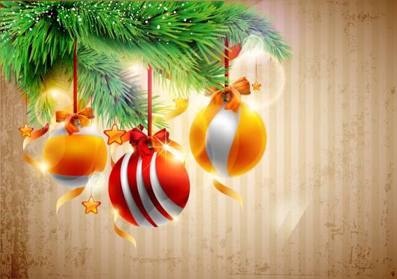 球,树,圣诞装饰品